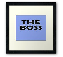 Who's The Boss - Cute Baby Onesie Jumpsuit Child Clothing Framed Print