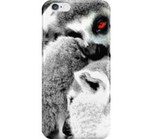 One Eye Open Lemur iPhone Case/Skin