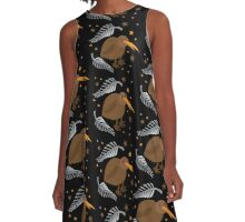 kiwi bird pattern A-Line Dress