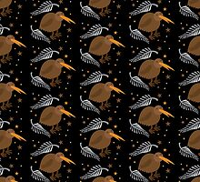 kiwi bird pattern by jazzydevil