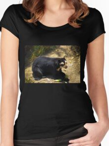 Ukumari, Andean Spectacled Bear Women's Fitted Scoop T-Shirt