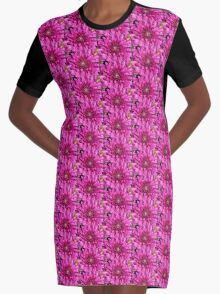 Dahlia in Pink Graphic T-Shirt Dress