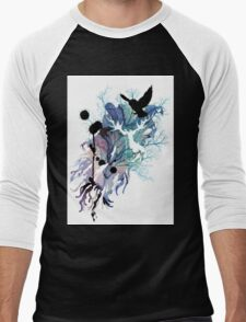 HARRY POTTER HEDWIG WATERCOLOUR  Men's Baseball ¾ T-Shirt
