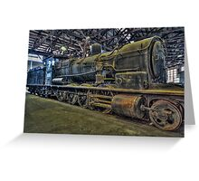 Old Steam Trains Locomotives Greeting Card