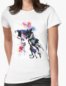 HARRY POTTER WATERCOLOUR  Womens Fitted T-Shirt
