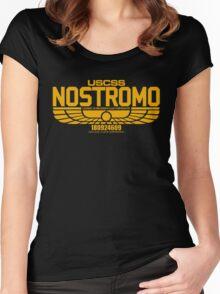 NOSTROMO ALIEN MOVIE STARSHIP (YELLOW) Women's Fitted Scoop T-Shirt
