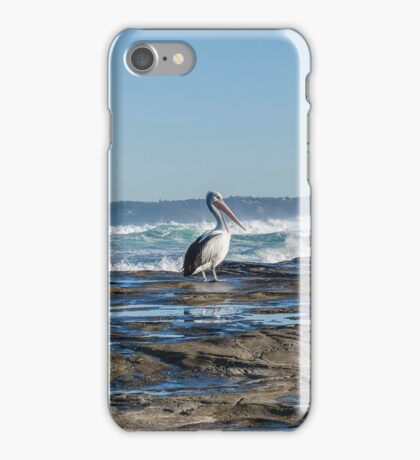 Newcastle Beach and look who dropped in iPhone Case/Skin