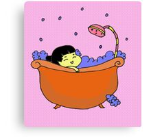 Happy Bath Time Canvas Print