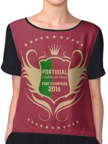 Portugal Euro 2016 Champions T-Shirts etc. ID-11 Lady Chiffon Top