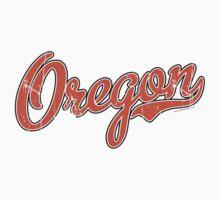 Oregon Script VINTAGE Orange Kids Clothes