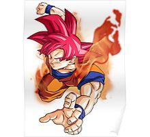 Goku as Super Saiyan God - Dragon Ball Z Resurrection F Poster