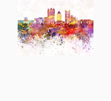 Columbus skyline in watercolor background Unisex T-Shirt