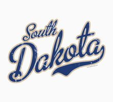 South Dakota Script VINTAGE Blue by carolinaswagger