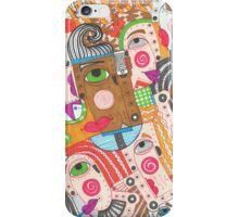 Faces and hands colorful sbtraction iPhone Case/Skin