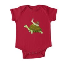 Frightened Snail Hitches a Ride One Piece - Short Sleeve