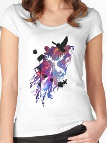 HARRY POTTER HEDWIG GALAXY Women's Fitted Scoop T-Shirt