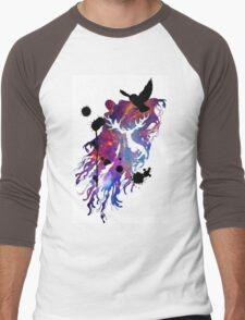 HARRY POTTER HEDWIG GALAXY Men's Baseball ¾ T-Shirt