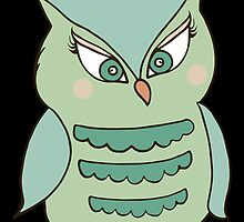 Green Owl by kwg2200