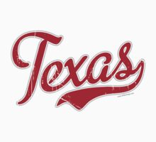 Texas Script VINTAGE Red by Carolina Swagger