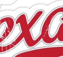 Texas Script VINTAGE Red Sticker