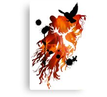 HARRY POTTER HEDWIG FIRE Canvas Print