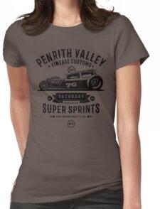 Vintage Customs Super Sprints [Black Mono] Womens Fitted T-Shirt