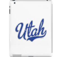 Utah Script VINTAGE Blue iPad Case/Skin