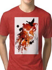 EXPECTO PATRONUM HEDWIG FIRE Tri-blend T-Shirt