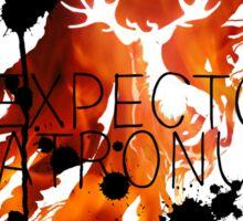 EXPECTO PATRONUM HEDWIG FIRE Sticker