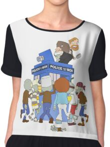 Zombie chasing the Doctor Chiffon Top