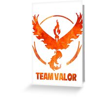 Team Valor Greeting Card