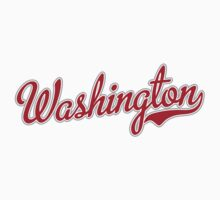 Washington Script Red Kids Clothes