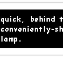 Undertale Sans Convenient Lamp Sticker