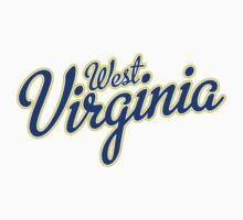 West Virginia Script Blue by Carolina Swagger