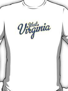 West Virginia Script Blue T-Shirt