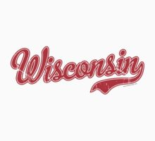 Wisconsin Script VINTAGE Red by Carolina Swagger