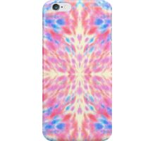 Watercolor Pink Blue Floral Fireworks Pattern iPhone Case/Skin