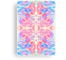 Watercolor Pink Blue Floral Fireworks Pattern Canvas Print