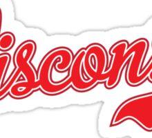 Wisconsin Script Red Sticker