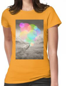 The Echoes of Silence Womens Fitted T-Shirt