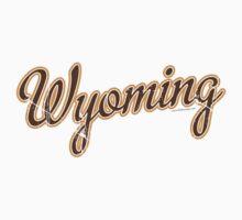 Wyoming Script VINTAGE Brown Kids Clothes