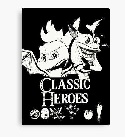 Classic Heroes Canvas Print