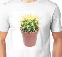 Yellow cactus in flowerpot Unisex T-Shirt