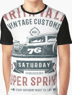 Vintage Customs Super Sprint [Muted Red & Blue] Graphic T-Shirt