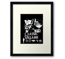 Classic Villains Framed Print