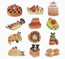 Puppy Pastries One Piece - Short Sleeve