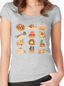 Puppy Pastries Women's Fitted Scoop T-Shirt