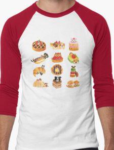 Puppy Pastries Men's Baseball ¾ T-Shirt