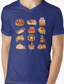 Puppy Pastries Mens V-Neck T-Shirt