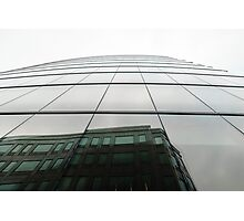 Glass building with reflections Photographic Print